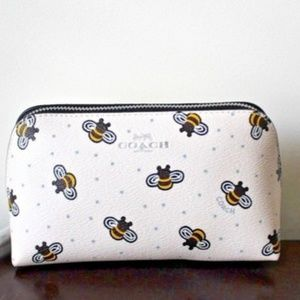 NEW Coach Cosmetic Case with Bee Print